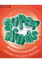 Купити - Книжки - Super Minds 4. Workbook with Online Resources