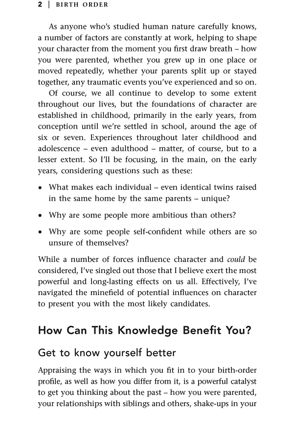 Книга «Birth Order. What your position in the family really tells you about your character», автора Линда Блэр – фото №2 - миниатюра
