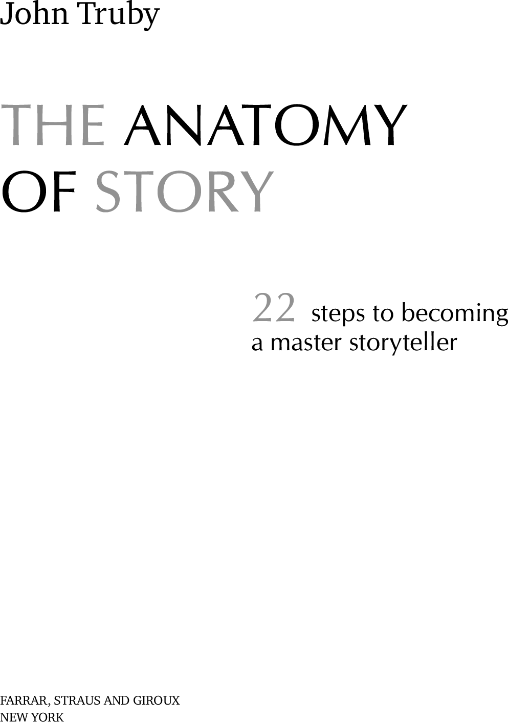 Exelent John Truby The Anatomy Of Story Image - Internal organs ...