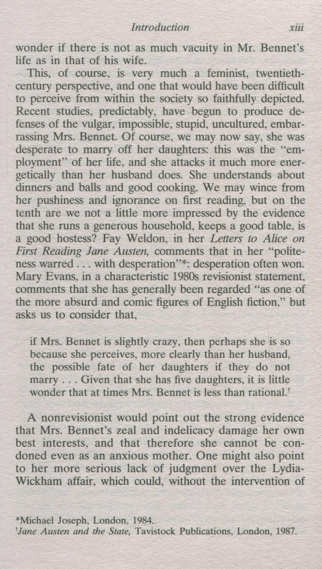 fay weldon letters to alice and pride prejudice To consider connections between jane austen's pride and prejudice and fay weldon's letters to alice , while demonstrating an awareness of the ways in which the contexts of each text inform their subjects and values, requires that.