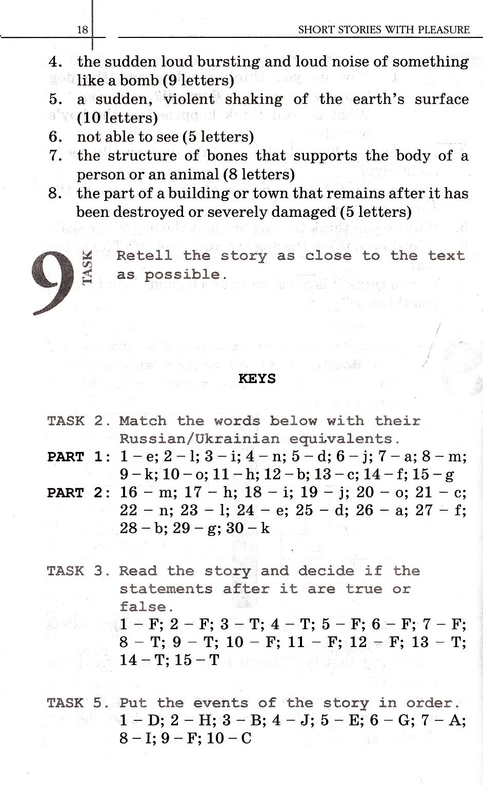 short stories for pre intermediate students and