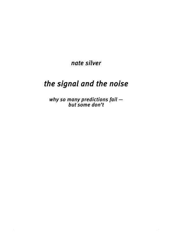 The Signal And The Noise Epub
